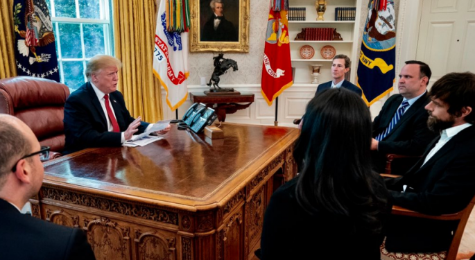 President Trump Meets With Twitter CEO Jack Dorsey, Looks Forward 'To Keeping An Open Dialogue'