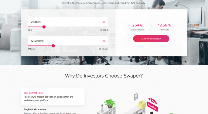 Swaper Offers One-Click Portfolio Investing