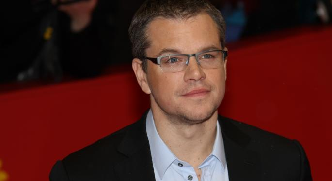 Matt Damon's Pledge to Not Flush the Toilet May Boost Water Stocks