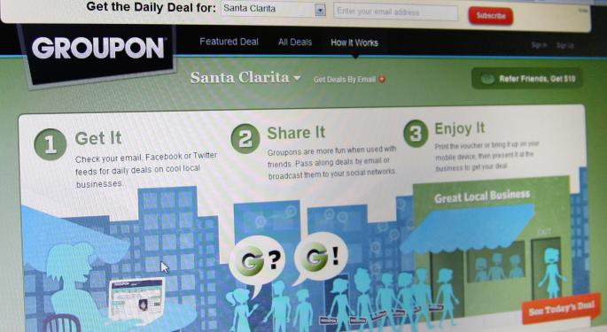 Groupon Tanks on Weak Earnings and Guidance