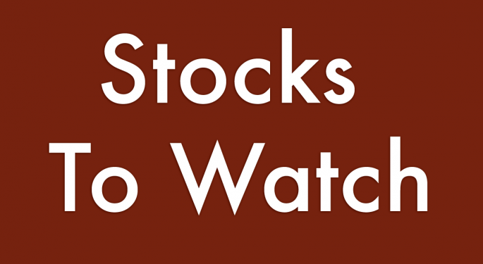 14 Stocks To Watch For October 30, 2018