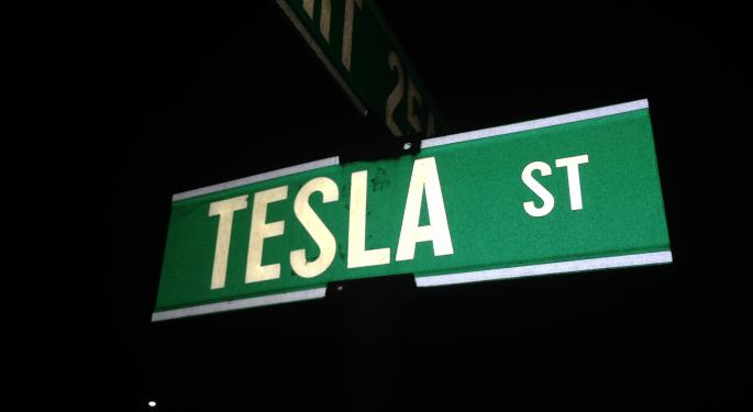 Tesla's Stock Gains After Tencent Stake