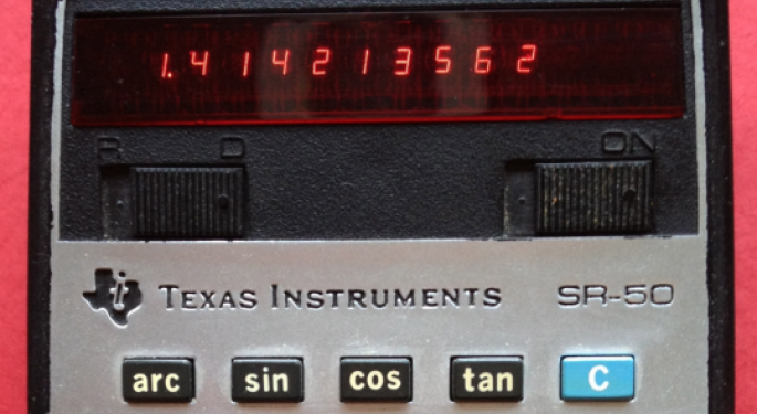 This Day In Market History: Texas Instruments Patents Hand-Held Calculator