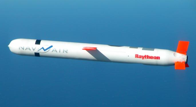Raytheon, Maker Of Syrian-Strike Tomahawk Missile, Up Following U.S. Attack