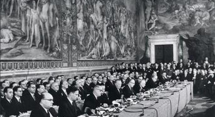 This Day In Market History: Treaty Of Rome Begins Europe's Economic Integration