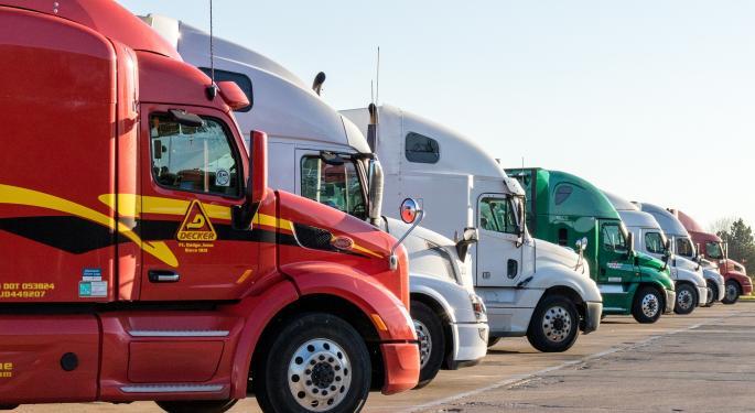 """Truckload Stocks Upgraded As Fundamentals """"Bottom"""""""