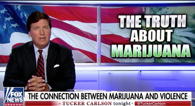 Tucker Carlson Tries To Blame Marijuana For Mass Shootings