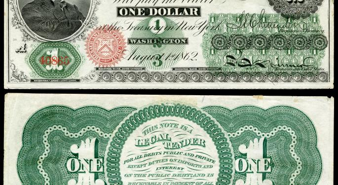 This Day In Market History: The First Ever US Dollar Bill Is Issued