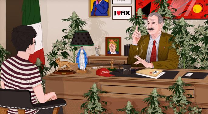Former Mexican President Vicente Fox Talks NAFTA, Trump And Regulated Marijuana Trade