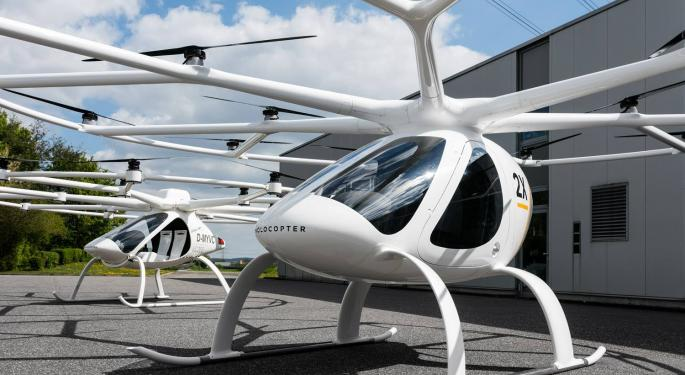 Singapore Collaborates With Volocopter To Add Air Taxis To Its Skyline