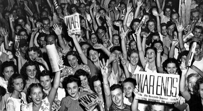 This Day In Market History: US Stock Market Closes To Celebrate V-J Day