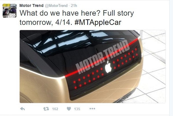 What do we have here? Full story tomorrow, 4/14. #MTAppleCar